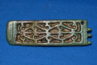 "A huge, very rare and excellent quality Roman Legionary ""Balteus"" (Aproned sword belt) ornate openwork bronze buckle plate, British. SOLD"